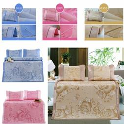 3PCS Ice Silk Sleeping Crib Mattress Mat Summer Cool Pad wit