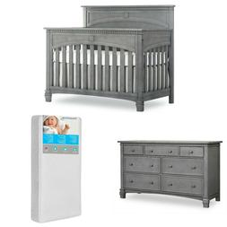 5 in 1 Convertible Crib and Double Dresser with Free 260 Coi