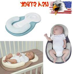 Baby Infant Pillow Sleep Newborn Mattress Crib Prevent Flat