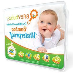 bamboo crib mattress protector - waterproof baby pee pad cov