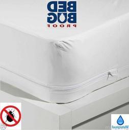 BED BUG PROOF ~ Waterproof Zippered Vinyl Mattress Cover PRO