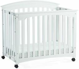 Child Craft Stanford Matte White Mini Folding Crib And Mattr