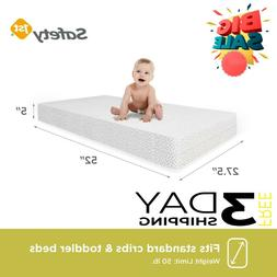 Child Crib Mattress Baby Toddler Waterproof Bed Infant Comfo