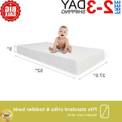Child Crib Mattress Firm Baby Toddler Waterproof Bed Infant