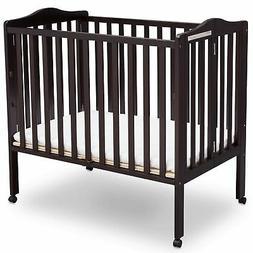 Delta Children Portable Folding Crib with Mattress - Dark Es