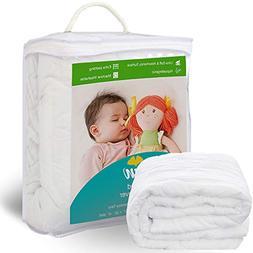 Crib Mattress Protector/Pad  - 100% Waterproof, Ultra Soft &
