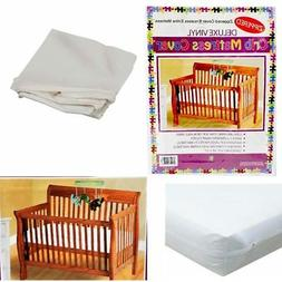 Crib Size Zippered Mattress Cover Vinyl Toddler Bed Allergy