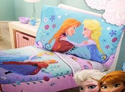 Disney FROZEN Elsa & Anna 4-Piece Toddler Bed Set NEW WITH T