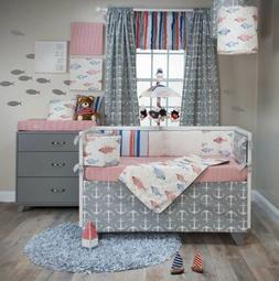 Glenna Jean Fish Tales Crib Bumper NEW