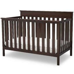 Kings Wood Convertible Baby Crib W/ Adjustable Mattress Supp