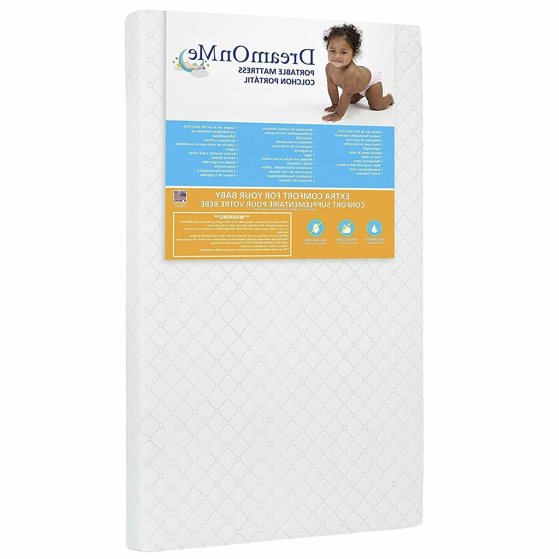 "Dream On Sunset 3"" Fiber Portable Crib Mattress I Waterproof"