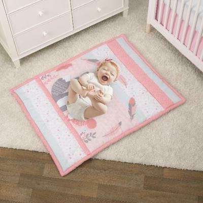 3 Piece Crib Set Comforter Sheet Bedroom Ruffle