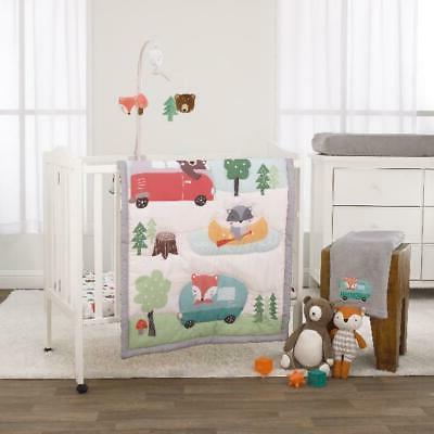 3 piece mini crib bedding set comforter