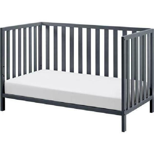 4-in-1 Gray Crib W/ Support Base