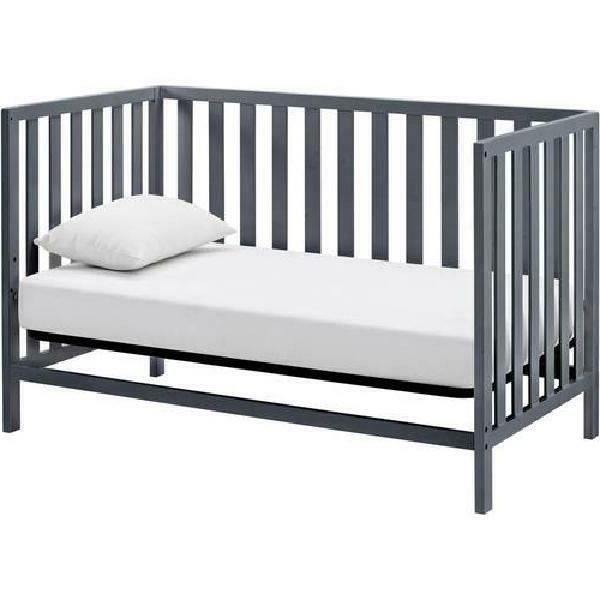 4-in-1 Gray Finish Crib W/ Support