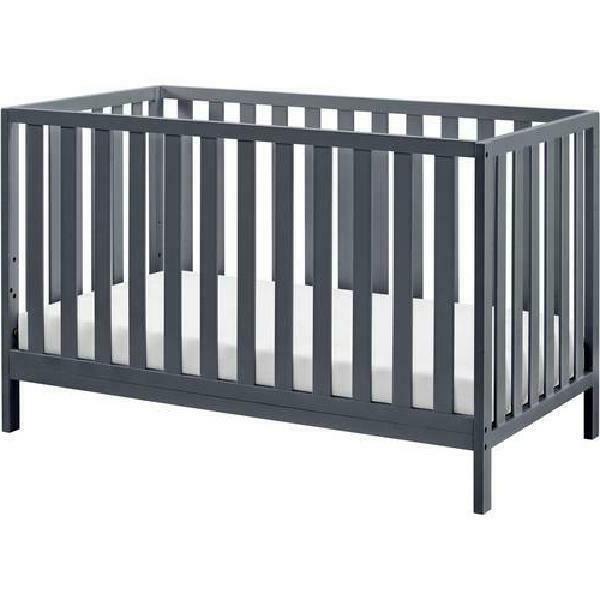 4 in 1 gray finish convertible crib