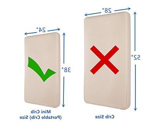 American Baby Fitted Porta/Mini Crib Protective Mattress Pad Cover,