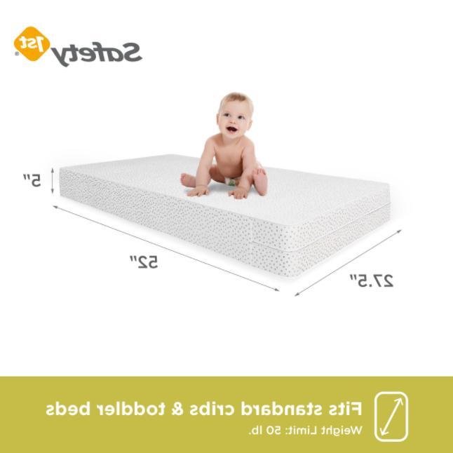 Baby Mattress Toddler Waterproof Infant Comfort Safe