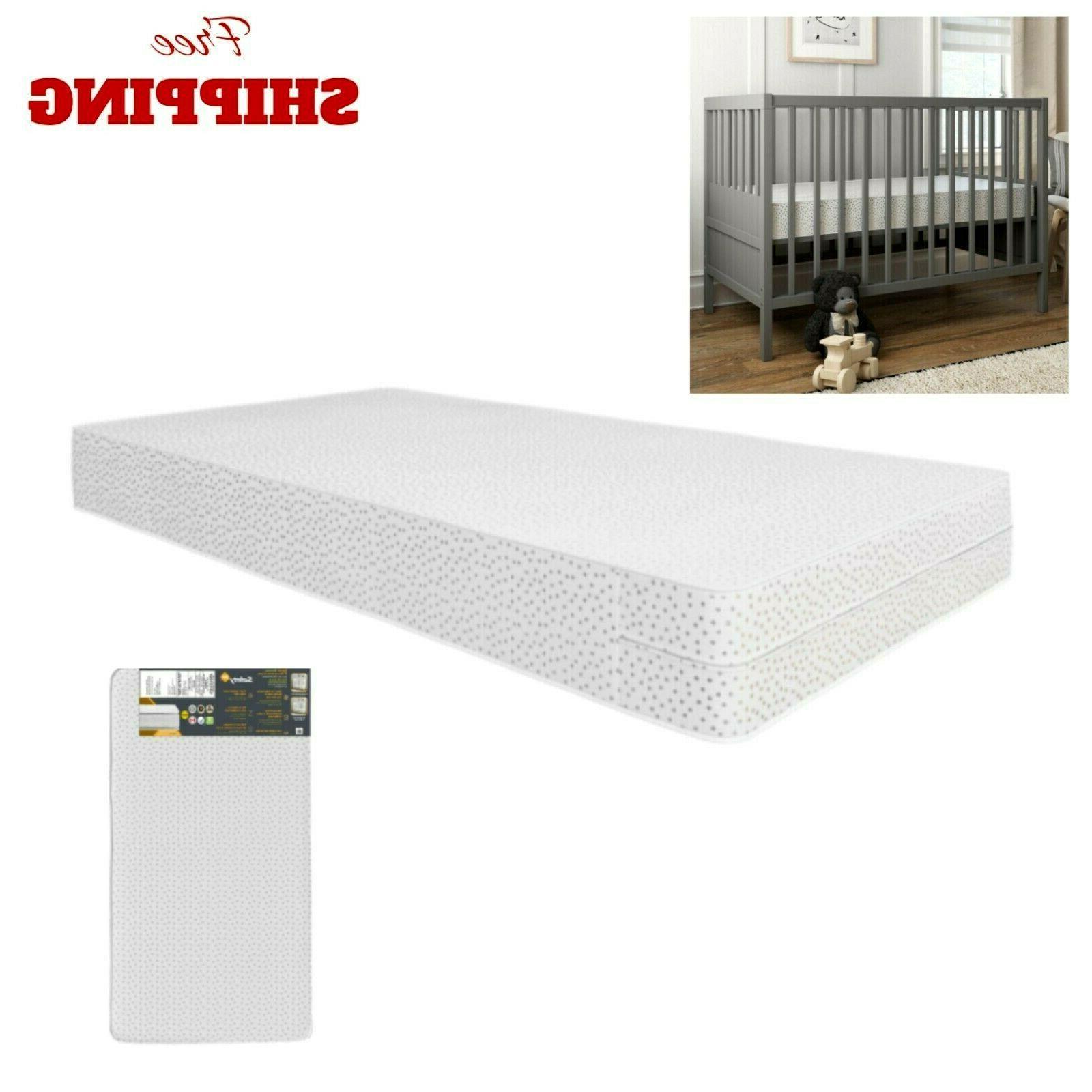 baby crib mattress firm toddler waterproof bed