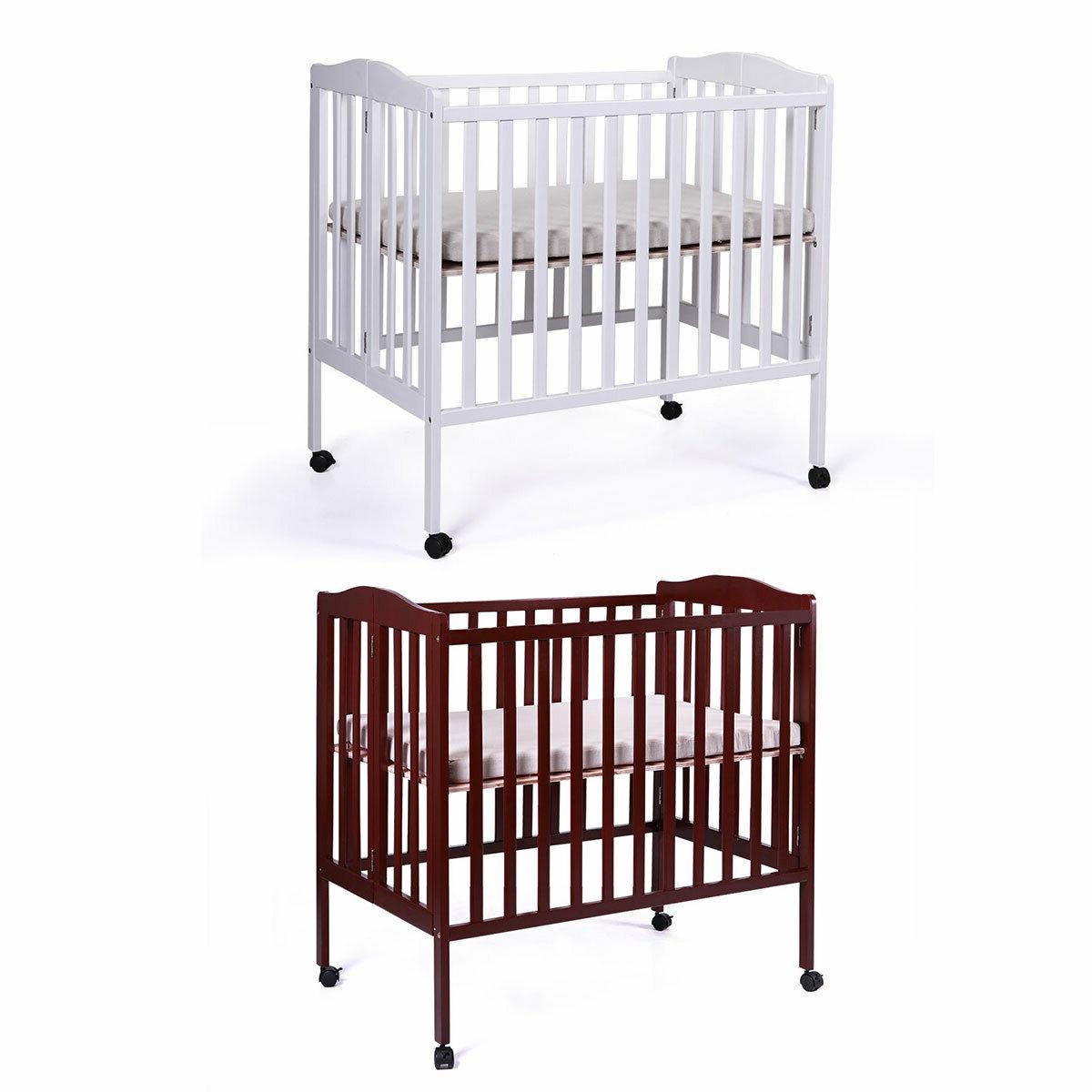TOBBI-SAFE Baby Nursery Crib Bed Wood Infant