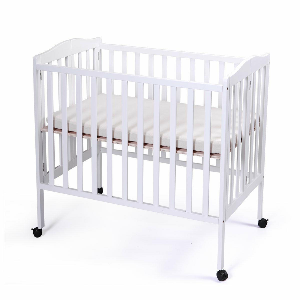 TOBBI-SAFE Nursery Bed Wood Infant Newborn