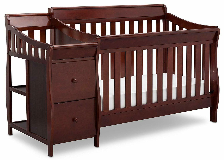 Delta Children Bentley S Convertible Crib N Changer, Wood Ma