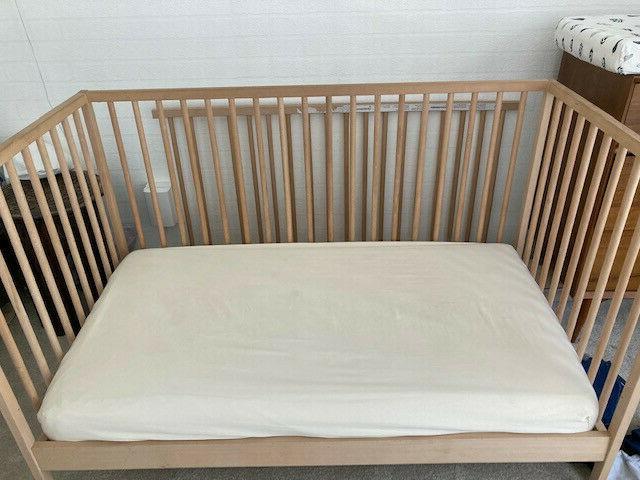 naturepedic crib mattress, sided,