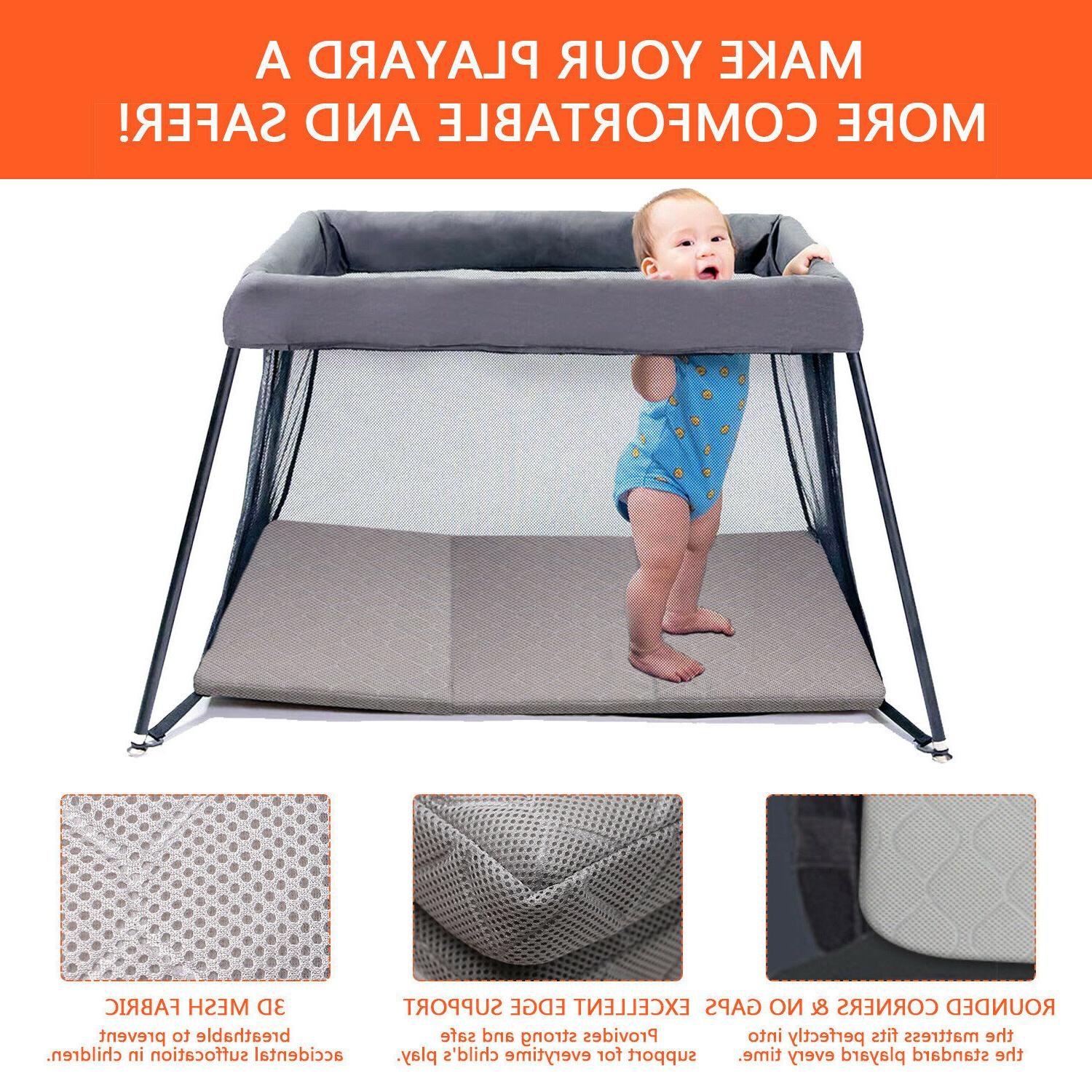 Infant Crib Play Firm Foldable