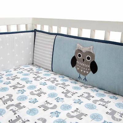 Lambs & Ivy Wild Woodland Owl & Fox 4-Piece Crib Bumper