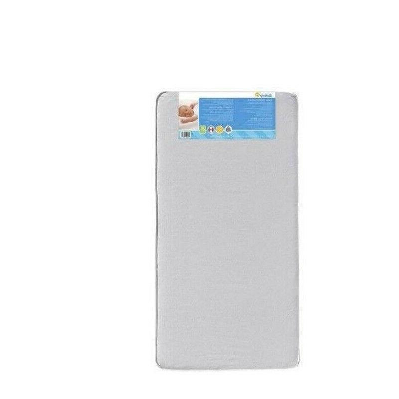 mini crib mattress 3 thick white portable