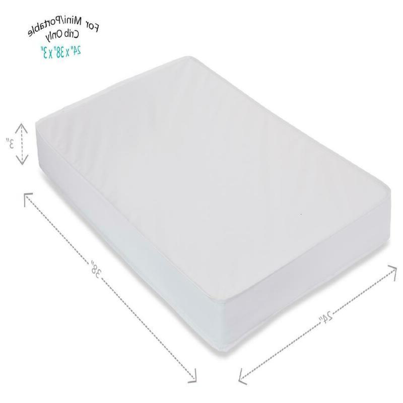 mini crib portable pad mattress waterproof 3