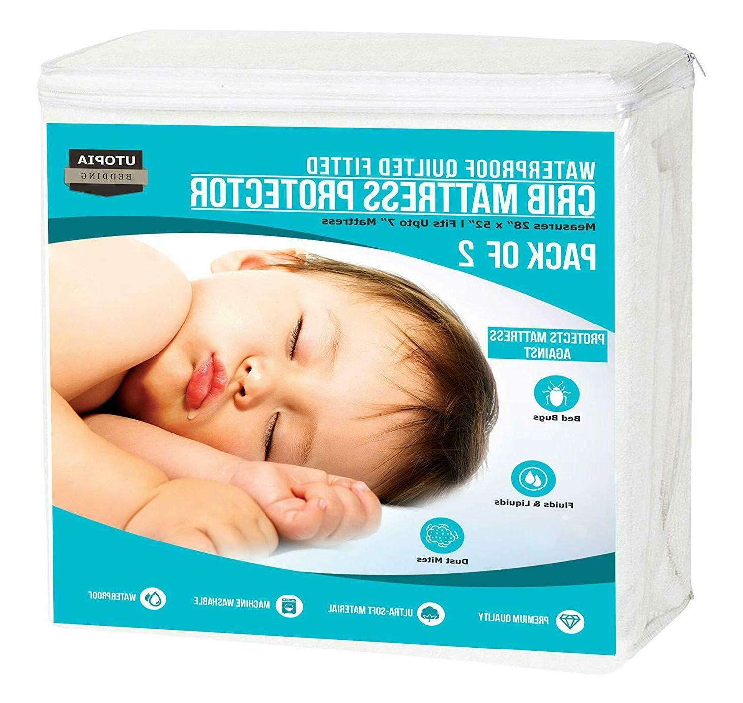 Pack of Crib Mattress Toddler and Bedding