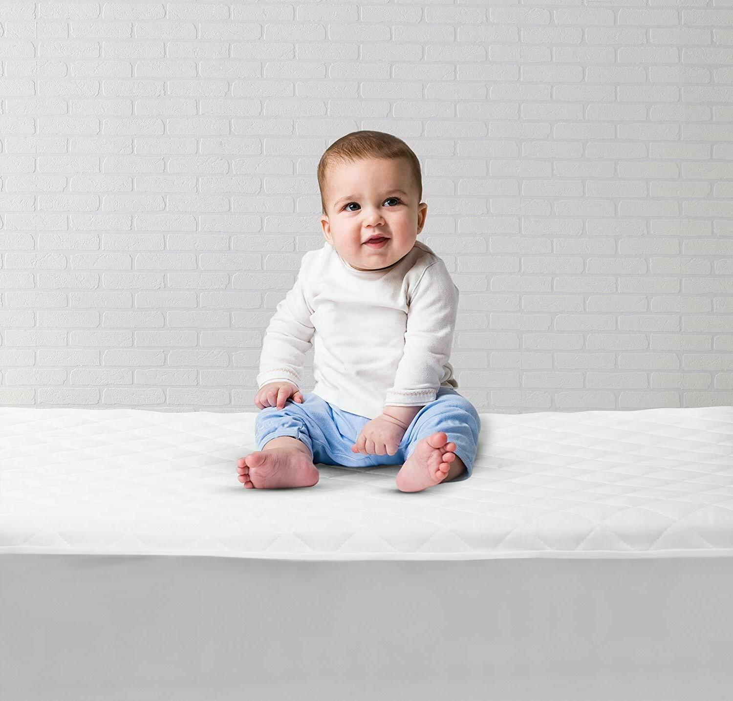 Pack 2 Waterproof Crib Toddler and Baby Bedding