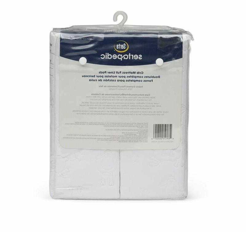 Serta Crib Liner Pads Extra Protection for