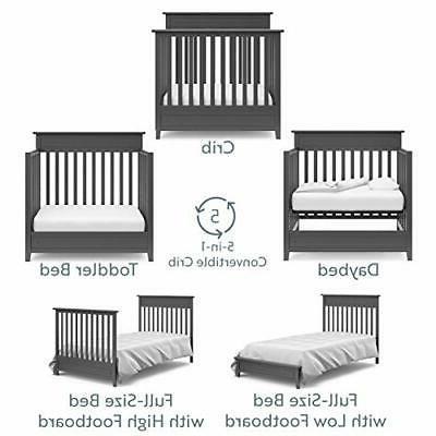 Storkcraft 5-in-1 Mini Crib Mattress Includes Pre