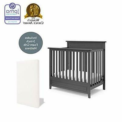 Storkcraft Petal Mini Crib Bonus Mattress