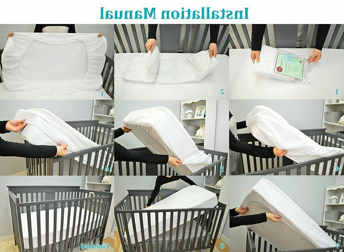 American Baby Company Fitted Crib Protective Mattress