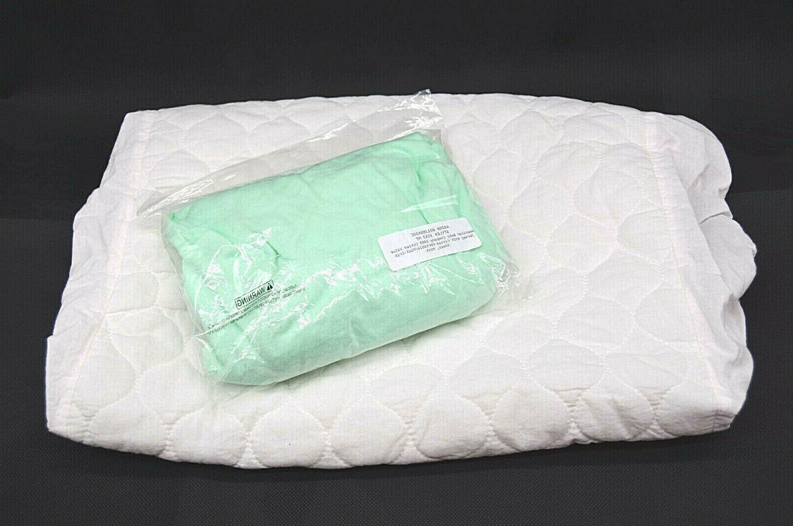 waterproof mattress pad and jersey knit mini