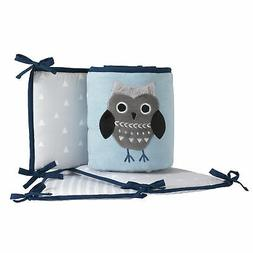 Lambs & Ivy Stay Wild Blue/Gray Woodland Owl & Fox 4-Piece B