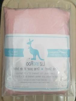 "Liz and Roo Crib Sheet Pink Fits 52"" x 28"" Mattress"