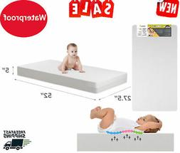 MATTRESS CRIB FOAM TODDLER Bed Baby Waterproof Infant Comfor