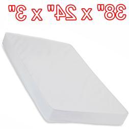 Mini Crib Portable Pad Mattress Waterproof 3 Inch Lightweigh