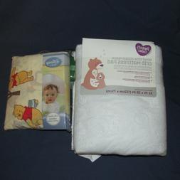 New Winnie the Pooh Crib Sheet Reversible Fitted Fleece Matt