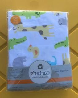 NIP Carter's Safari Animals Fitted Sateen Crib Sheet For Std