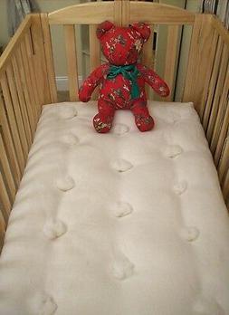 ORGANIC CRIB MATTRESS Eco Wool Filled Baby Bed Futon Natural