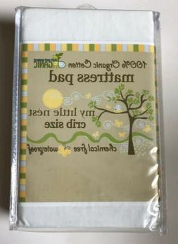 My Little Nest Organic Crib Mattress Protector - Waterproof,