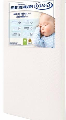 Graco premium foam crib and Toddler Mattress  –