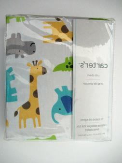 Carter's Sateen Multi Safari Crib Sheet
