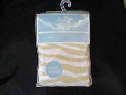 Summer Infant Toddler Full Size Crib Sheet, Beige Zebra Prin