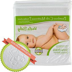 Crib Mattress Protector Waterproof Pad Cover Fitted Sheet Or